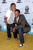 Will Smith and Jaden Smith  at the 2008 MTV Movie Awards. Gibson Amphitheatre, Universal City, CA. 0