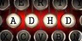foto of typewriter  - ADHD on Old Typewriter - JPG
