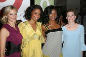 Amy Smart and Sanaa Lathan with Gabrielle Union and Elizabeth Banks  at the Rogan For Target Debut a