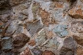 Rock cement wall
