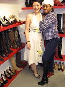Lisa Gao and Tichina Arnold  at the Dans Sara, Leezee Fabulous Shoes and Swing Cologne Gifting Suite