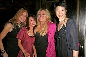 Marilyn Vance and Serena Guam with Cendra Martel and Lisa Gao  at the party celebrating the opening