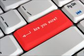 Red Keyboard Enter Key Saying Are You Sure