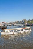 Amstel River,Amsterdam,Netherlands
