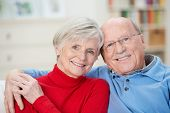 Affectionate Attractive Elderly Couple