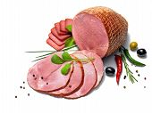 pic of eatables  - studio photography of meat products  - JPG