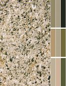 granite imitation color palette with complimentary color swatches