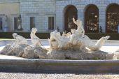 Italy, Como: Villa Olmo's fountain