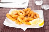 Calamares fritos sabrosos