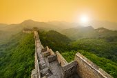 pic of old stone fence  - Great Wall of China - JPG