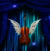 picture of violin  - Violin with wings - JPG