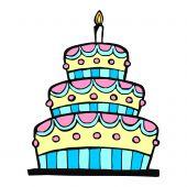 Постер, плакат: Красочный день рождения торт
