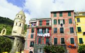 Vernazza typical houses national park 5 terre italy