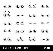 picture of googly-eyes  - A set of cartoon eyeball showing different emotions - JPG