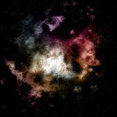 Space background with colourful nebula and stars