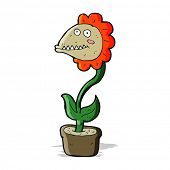 cartoon monster plant