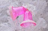 Pink Jingle Bell On Christmas Tree