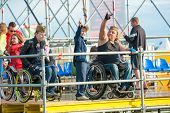 BIG ZAVIDOVO, RUSSIA - JULY 4: Disables attend rock festival