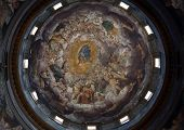 PARMA, ITALY - MAY 01, 2014: Fresco in the Basilica Santa Maria della Steccata. Basilica is a Marian