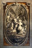 PARMA, ITALY - MAY 01,2014:Station of the cross.Basilica Santa Maria della Steccata.Basilica is a Ma