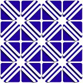 Diagonal White Frames And Deep Blue Pattern