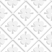 Diagonal White Square Net And Pointy Shapes Pattern