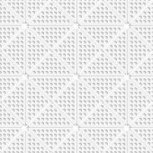 White Perforated Triangles Tile Ornament
