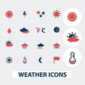 weather icons, signs, symbols, vector set