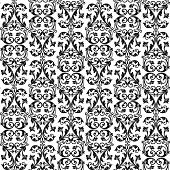 Vector seamless rich background in Renaissance style. Floral patterns