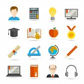 E-learning flat icon