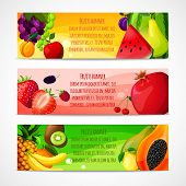 Fruits banners horizontal