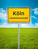 An image of the city sign of Koeln