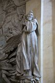 PARMA, ITALY - MAY 01, 2014: Statue of Saint , altar in the church of Saint Vitale. The church of St