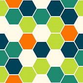 Hexagon colorful seamless pattern background texture