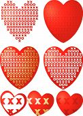 stock photo of xoxo  - Set of XOXO valentine hearts - JPG