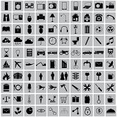 100  Icon Object Around Us