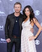 LOS ANGELES - APR 06:  Dierks Bentley & Cassidy Black arrives to the 49th Annual Academy of Country