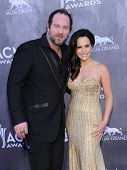 LOS ANGELES - APR 06:  Lee Brice & Sara Reeveley arrives to the 49th Annual Academy of Country Music