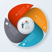 Modern business infographics circle.