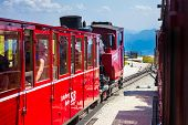 Steam Trainn Railway Carriage Going To Schafberg Peak