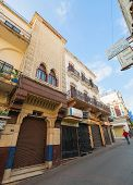 Tangier, Morocco - March 22, 2014: Street View Of Old Medina Area In Tangier, Morocco