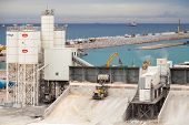 Tanger, Morocco - March 28, 2014: New Terminals Area Under Construction, Port Tanger-med 2. It Will