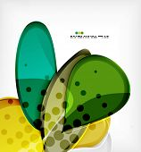 Large glossy round shapes abstract vector background