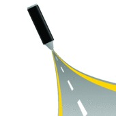 image of long winding road  - gray felt pen with road art vector illustration - JPG
