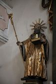 SCHMERLENBACH, GERMANY - JULY 19: Statue of Saint, Sanctuary of St. Agatha in Schmerlenbach in the D