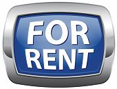 for rent vector icon, renting house building apartment flat or car to let