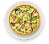 quiche isolated on white background