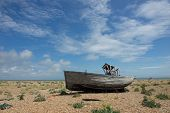 Abandoned fishing boat at Dungeness.Uk