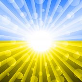 Ukrainian Flag Color . Abstract Light Background