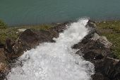 waterfall - cascade in the water - dam